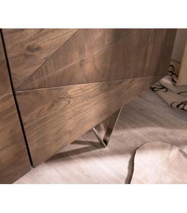 Komoda Viat X 175 cm Akácie Hnědá 3 Dvířka